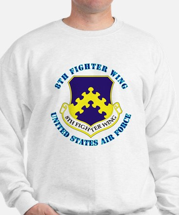8th Fighter Wing with Text Sweatshirt