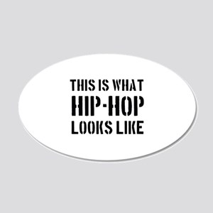 Cool HipHop designs 22x14 Oval Wall Peel