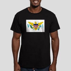 USVI Flag Men's Fitted T-Shirt (dark)