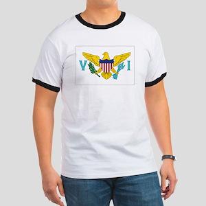 USVI Flag Ringer T