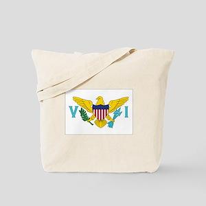 USVI Flag Tote Bag