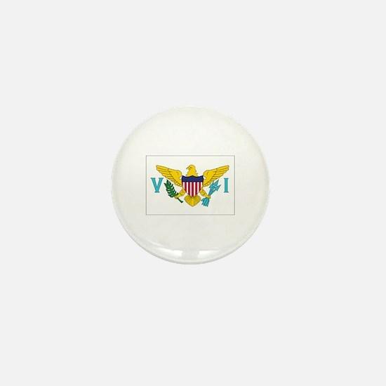 USVI Flag Mini Button