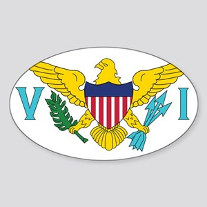 USVI Flag Sticker (Oval)