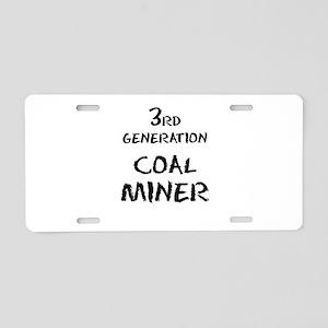 Coal Miner Aluminum License Plate