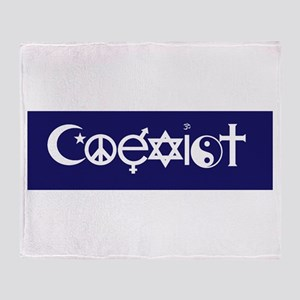 coexist design Throw Blanket
