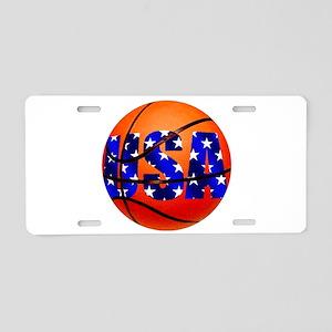 USA Basketball Aluminum License Plate