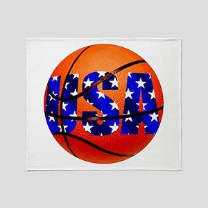 USA Basketball Throw Blanket