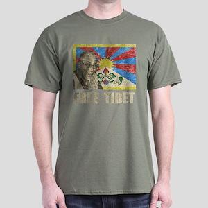 Dalai Lama Free Tibet Dark T-Shirt