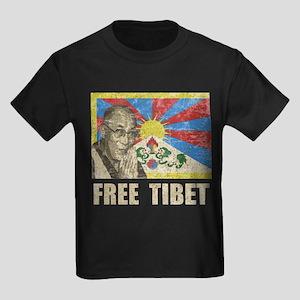 Dalai Lama Free Tibet Kids Dark T-Shirt
