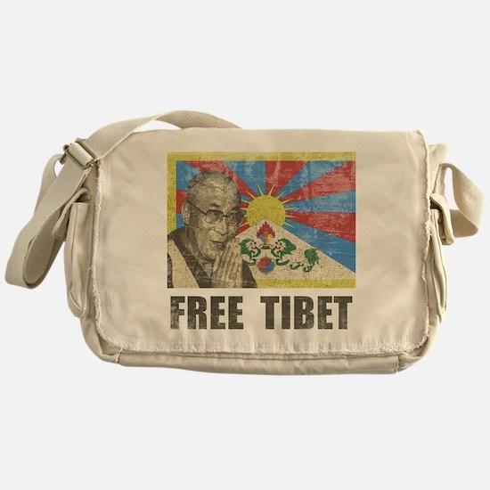 Dalai Lama Free Tibet Messenger Bag