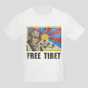 Dalai Lama Free Tibet Kids Light T-Shirt