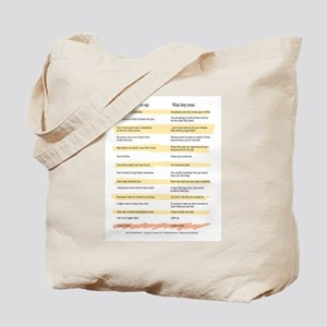 What Trainers Say Tote Bag