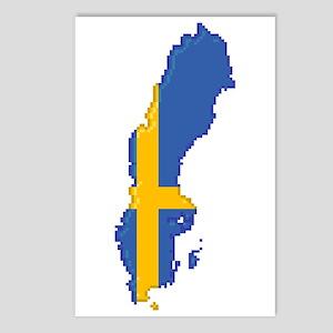 """Pixel Sweden"" Postcards (Package of 8)"