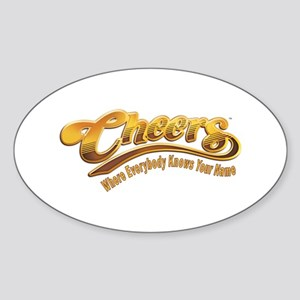 Cheers Logo Sticker (Oval)