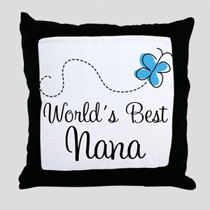 Nana (World's Best) Throw Pillow