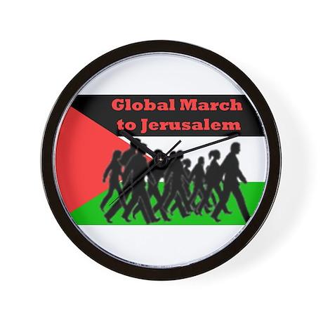 Global March to Jerusalem Wall Clock