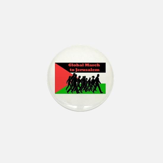Global March to Jerusalem Mini Button