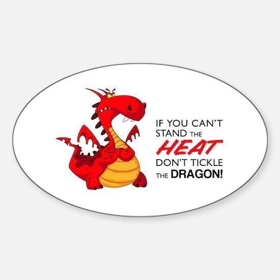 Tickle Dragon Sticker (Oval)