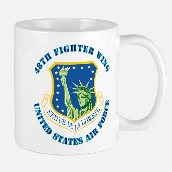 48th Fighter Wing with Text Mug