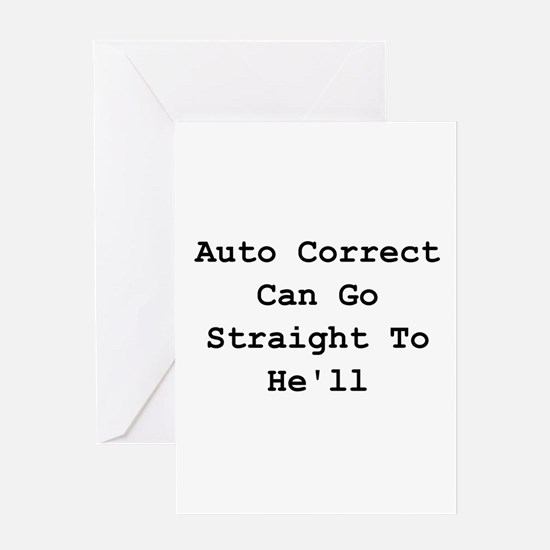 Auto Correct He'll Greeting Card