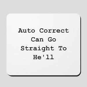 Auto Correct He'll Mousepad
