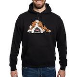 English bulldog Dark Hoodies