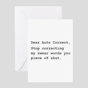 Auto Correct Shut Greeting Card