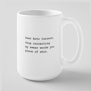 Auto Correct Shut Large Mug