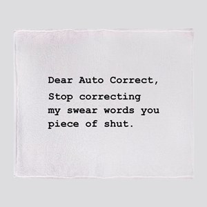 Auto Correct Shut Throw Blanket