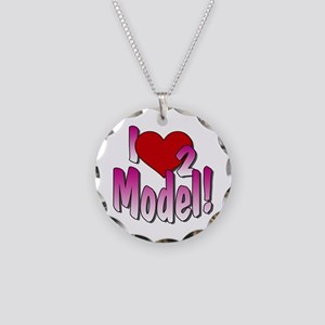 I Love 2 Model! Necklace Circle Charm