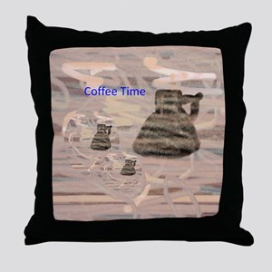 Throw Pillow Coffee Time
