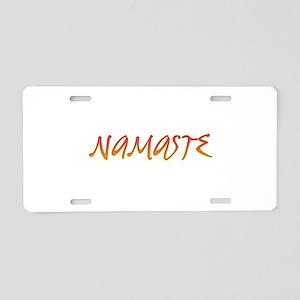 Namaste 2 Aluminum License Plate