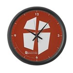 Iglesia Del Maestro (Ico-Red) Large Wall Clock