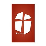 Iglesia Del Maestro (Ico-Red) Sticker (Rectangle 1
