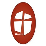 Iglesia Del Maestro (Ico-Red) Sticker (Oval)