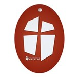 Iglesia Del Maestro (Ico-Red) Ornament (Oval)