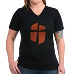 Iglesia Del Maestro (Ico-Red) Women's V-Neck Dark