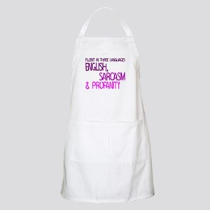 Fluent In Three Languages Apron