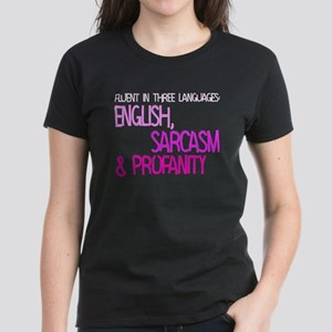 Fluent In Three Languages Women's Dark T-Shirt