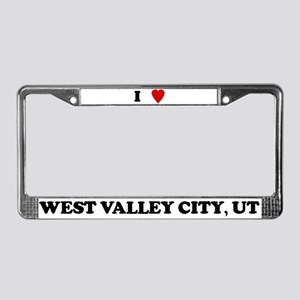 I Love West Valley City License Plate Frame