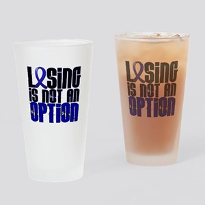 Losing Is Not An Option Colon Cancer Drinking Glas