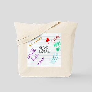 nerd notes Tote Bag