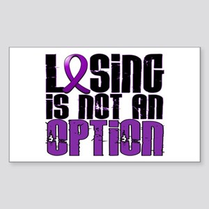 Losing Is Not An Option Epilepsy Sticker (Rectangl