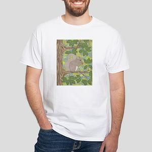 Grey Squirrel White T-Shirt