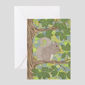 Grey Squirrel Greeting Card
