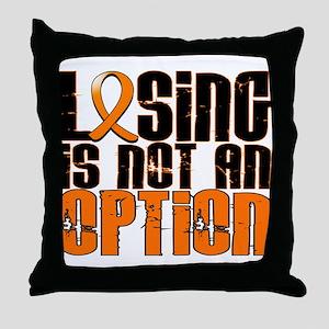 Losing Is Not An Option Leukemia Throw Pillow