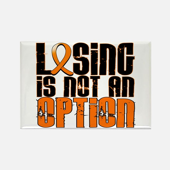 Losing Is Not An Option Leukemia Rectangle Magnet