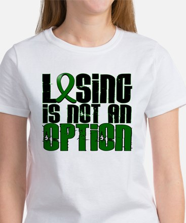 Losing Is Not An Option Liver Cancer Women's T-Shi