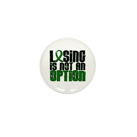 Losing Is Not An Option Liver Cancer Mini Button (