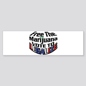 Free The Marijuana Sticker (Bumper)
